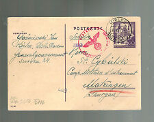 1941 Kielce Germany Occupied Poland Ghetto Cover Judaica Swiss Internment camp