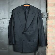 Kiton Gray Wool Cashmere Double Breasted Sport Coat Men's 42 Made in Italy