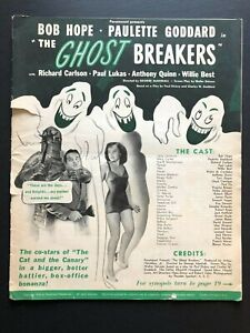 "Ghost Breakers Original Pressbook (Bob Hope, 1940) - 28 Pages 12"" x 15"" VG"