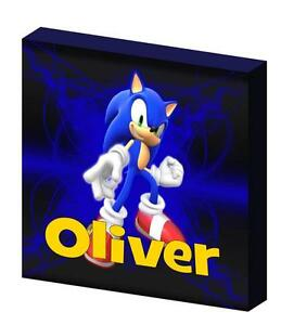 PERSONALISED SONIC THE HEDGEHOG CANVAS PICTURE