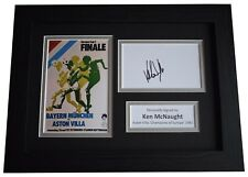 More details for ken mcnaught signed a4 framed autograph photo aston villa european cup winner 82