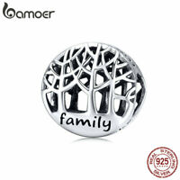 BAMOER Authentic S925 Sterling silver charms Family trees Fit Bracelets Jewelry