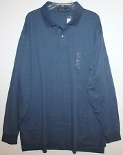 Polo Ralph Lauren Big and Tall Mens Blue Heather L/S Soft Polo Shirt NWT 4XLT