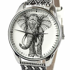 Women Elephant Watches S Leather Quartz Analog Band Dial Pattern Wrist Watch New