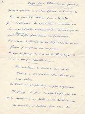 AUGUSTE LE BRETON / MANUSCRIT AUTOGRAPHE / COFFRE-FORT / CLAN DES SICILIENS
