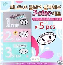 HOLIKA HOLIKA PIG NOSE CLEAR BLACKHEAD 3 STEP KIT 5 pcs KOREA