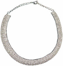 Modeschmuck-Halsketten & -Anhänger im Collier-Stil aus Kristall mit Strass für Damen