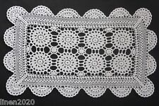 Vintage white rectangle crocheted cloth.