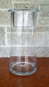 NEW YANKEE CANDLE LARGE CLEAR GLASS CYLINDER CANDLE HOLDER 1232518