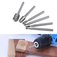 6X Professional HSS Wood Carving Hand Chisel Woodworking Drill Bits Gouges Tools