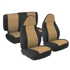 Front and Rear Neoprene Seat Covers Tan for Jeep Wrangler 1997-2002 471225