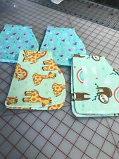 "New Lot of 4 Burp Cloths - 100% Cotton 'Snuggle"" Flannel"