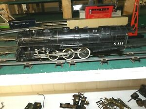 American Flyer S gauge K325 steam engine running
