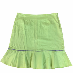 Ninety Womne's Trumpet Knee High Skirt Size 12 Green Fit & Flare