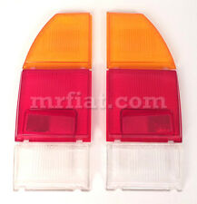 Fiat 124 Coupe CC Set Rear Tail Light Lenses Set New