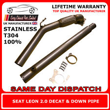 "Seat Leon 2.0T Stainless Steel T304 Decat and Downpipe 3"" Bore UK Made"