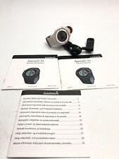 Garmin Approach S3 GPS Touchscreen Golf Watch Range Finder - White/Red, Working.