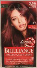 Schwarzkopf Brilliance Intense Colour Creme 49 Dark Red Violet Permanent Hair