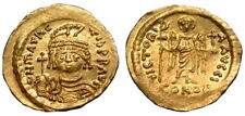 MAURICE TIBERIUS AU solidus Costantinopoli Nuovo di zecca (L328)