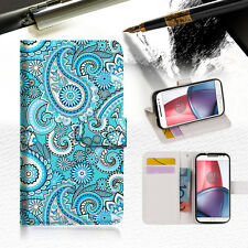 Seamless pattern Wallet TPU Case Cover For  Motorola Moto G4 Play-- A022