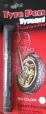 Tyre, Wheel Dressing, Lettering Pen in White for Cars and Motorcycles