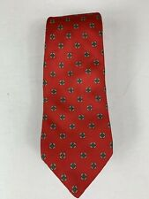 Strathmore Mens 100% Silk Necktie Red Geometric -148