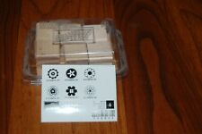 Stampin Up Little Flowers rubber stamp set unused not yet mounted set of 6