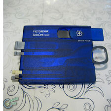 【v7100T】Victorinox SwissCard Credit Card Format 10 clever functions - Blue