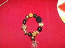 Fashion Bracelet for Holidays Black & Gold-Vintage Unique