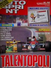Autosprint 31-32 1993 Test Alfa 155 DTM. Prost, Schumacher e Senna SC.54