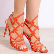 Unbranded Patternless Sandals Slim Heels for Women