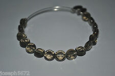 Alex and Ani Silver Smoke Grey Luxe Beaded Bracelet RETIRED