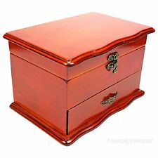 Schmuckschatulle Schmuckkasten Schatulle Schmuckbox Kiste Holz Mahagoni Antik
