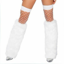 Fashion Leg Warmers Furry Boot Covers Winter Faux Fur Rave Christmas Fluffies