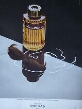 PUBLICITÉ DE PRESSE 1977 PARFUM MOUSTACHE DE ROCHAS - ADVERTISING