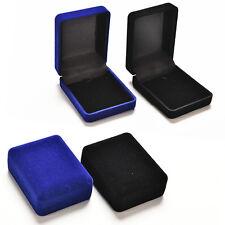 Fashion Velvet Necklaces Jewelry Storage Boxes Locket Jewellery Case  H Ho