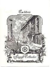 ERNST LOESCH: Exlibris für August Ertheiler, 1910,Weinhandlung Vollrad, Nürnberg