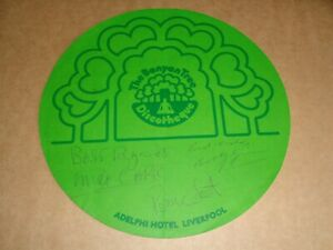 Ronnie Scott/Mike Carr/Bobby Gein hand signed 1974 Banyan Tree Discotheque Flyer
