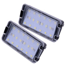 Pair 2-Pin LED Number License Plate Light Fit for Seat Leon Mk1 (1M) 2001-2004
