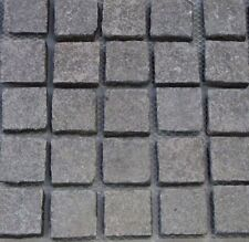 Midnight Black Cobblestone Pavers 100x100mm Premium Quality