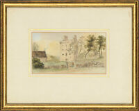 Framed Late 19th Century Watercolour - A Scottish Castle in a Landscape