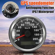 85mm 200 KM/h Car Motor GPS Antenna Speedometer Speedo Waterproof Digital Gauges