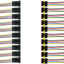 10x 4-Polig Auto KFZ Kabel Steckverbinder Stecker Wasserdicht Schnellverbinder