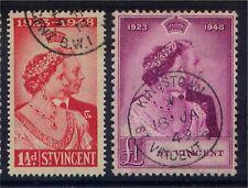 St Vincent GV1 1948 Royal Silver Wedding set Fine Used