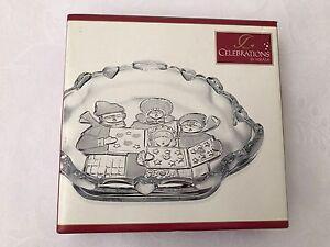 Christmas Glass Sweet Dish Carolers Collection Celebration Mikasa Decor Japan