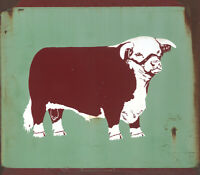 """TEXAS HEREFORD ASSOCIATION"" METAL SIGN"
