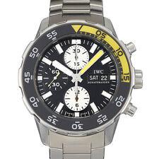 IWC Aquatimer IW376701 Chronograph Black Stainless Steel 44mm 1 Year Warranty