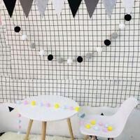 30Pcs Balls Pompom Garland String Props Hanging Christmas Birthday Party Decor