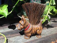Vintage Syroco/Composite Wood Scottie Terrier Dog Clothes Brush