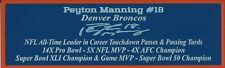 Peyton Manning Autograph Nameplate Denver Broncos Football Jersey Super Bowl 50